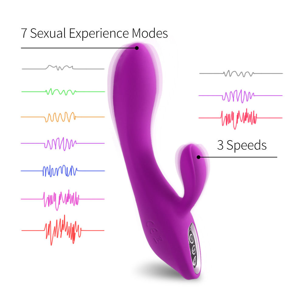 Adorime Waterproof Powerful G-spot Rabbit Vibrator